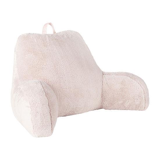 Home Expressions Shimmer Plush Fur Backrest Bed Rest Pillow