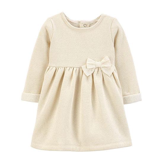 Carter's Girls Long Sleeve Babydoll Dress - Baby