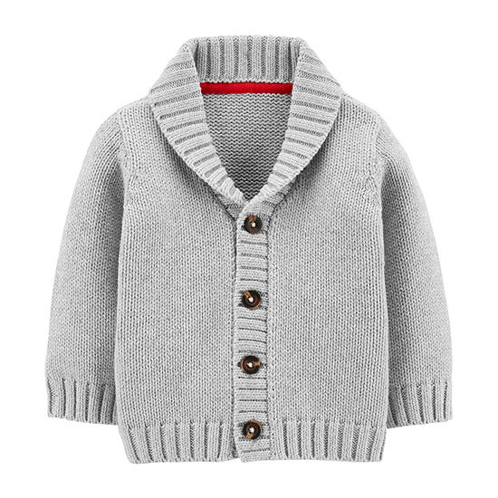 Carter's Baby Boys Y Neck Long Sleeve Cardigan
