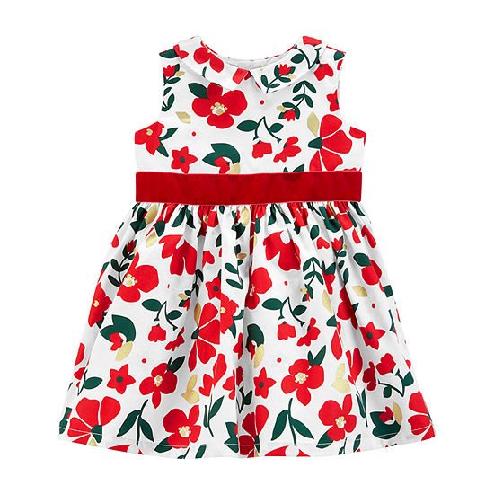 Carter's 2-pc. Girls Floral A-line Dress - Baby