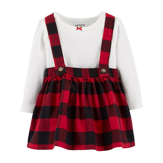 Carter's Girls 3-pc. Overall Set-Baby