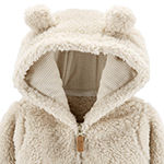 Carter's Unisex Hooded Neck Long Sleeve Cardigan - Baby