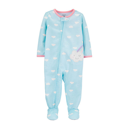Carter's Long Sleeve Girls Knit One Piece Pajama