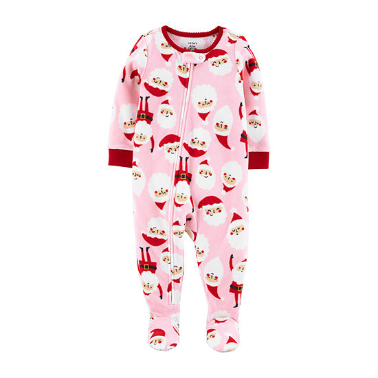 Carter's Girls Microfleece Long Sleeve One Piece Pajama