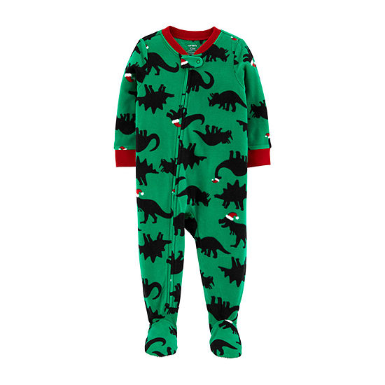 Carter's Christmas Boys Fleece One Piece Pajama Long Sleeve