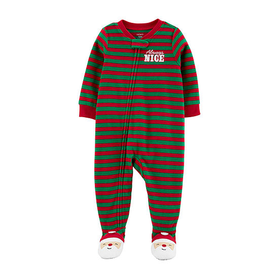 Carter's Christmas Unisex Fleece One Piece Pajama Long Sleeve