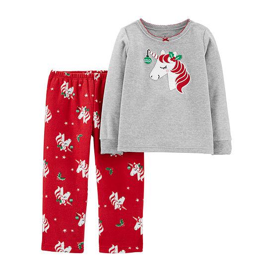 Carter's Girls Fleece Long Sleeve Two Piece Pajama