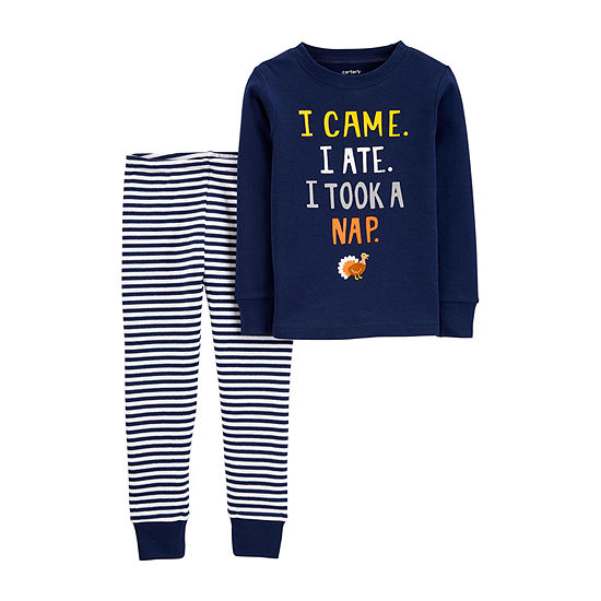 Carter's Thanksgiving Boys 2-pc. Pant Pajama Set Baby