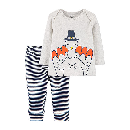 Carter's Thanksgiving Unisex 2-pc. Pant Set Baby