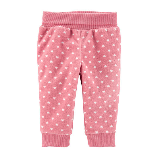 Carter's Girls Hearts Straight Jogger Pant - Baby