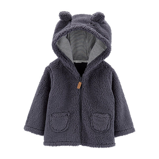 Carter's Boys Hooded Neck Long Sleeve Cardigan - Baby