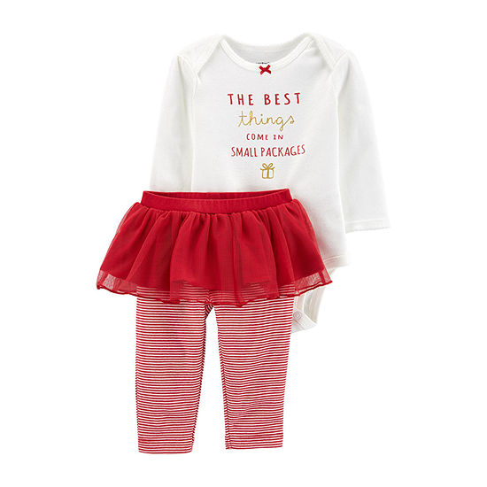 Carter's Christmas Girls 2-pc. Legging Set-Baby
