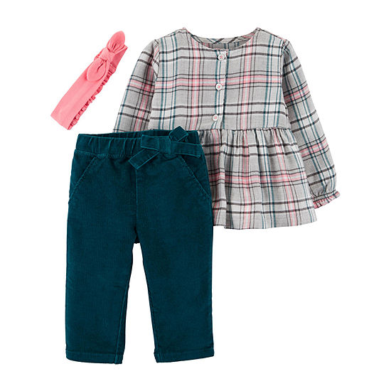 Carter's Girls 3-pc. Pant Set Baby