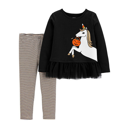 Carter's Halloween Girls 2-pc. Legging Set-Toddler