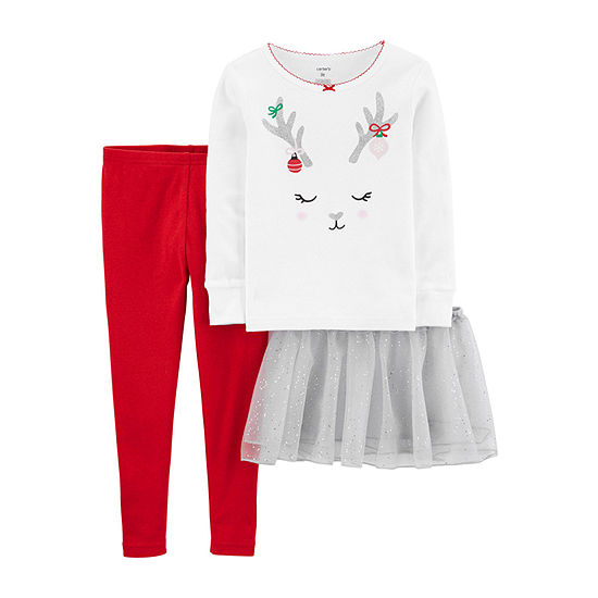 Carter's Christmas Toddler Girls Pajama Set