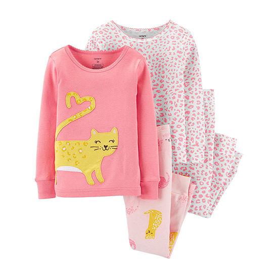 Carter's Girls 4-pc. Pajama Set Toddler