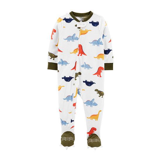 Carter's Microfleece Crew Neck Long Sleeve One Piece Pajama Boys