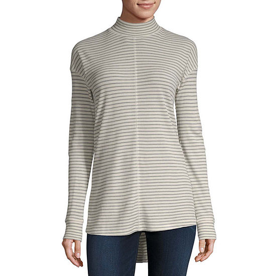 a.n.a Thermal Mock Neck Tunic- Tall