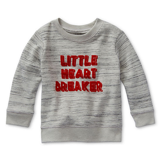 Okie Dokie Boys Crew Neck Long Sleeve Sweatshirt - Baby