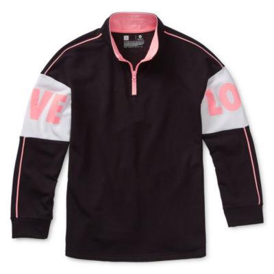 Xersion Girls Long Sleeve Quarter-Zip Pullover Preschool / Big Kid
