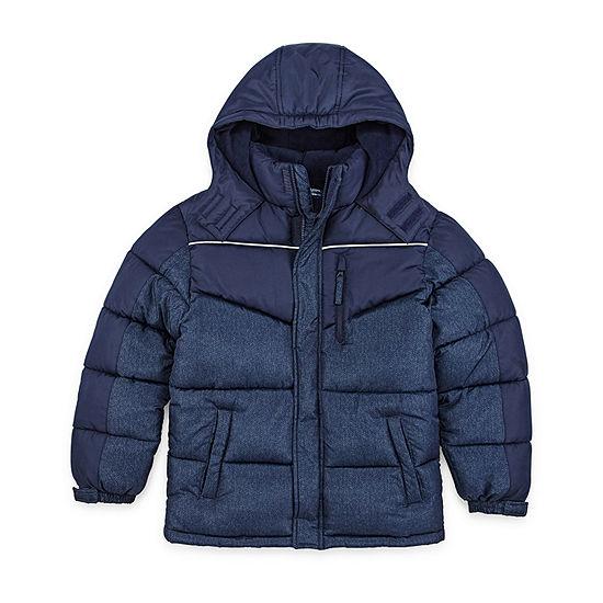 Arizona - Boys Fleece Lined Water Resistant Heavyweight Puffer Jacket Husky Preschool / Big Kid