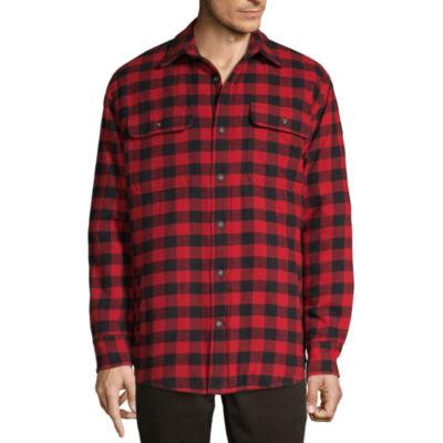 St. John's Bay Flannel Midweight Shirt Jacket