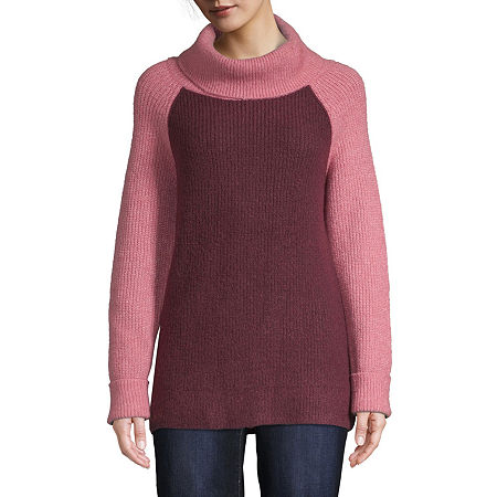 St. John's Bay Womens Cowl Neck Long Sleeve Pullover Sweater, X-large , Pink