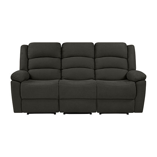 Hairu Velvet 3 Seat Recliner Sofa