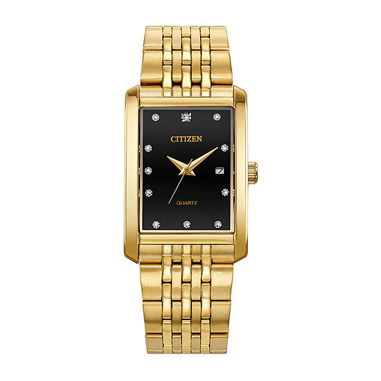 Citizen Mens Crystal Accent Gold Tone Stainless Steel Bracelet Watch - Bh1673-68e