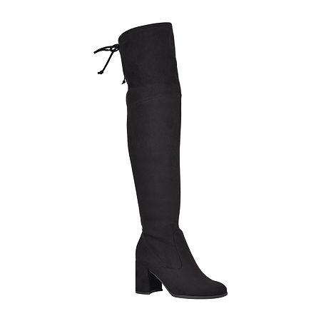 Unisa Womens Briggs Over the Knee Block Heel Boots, 6 Medium, Black