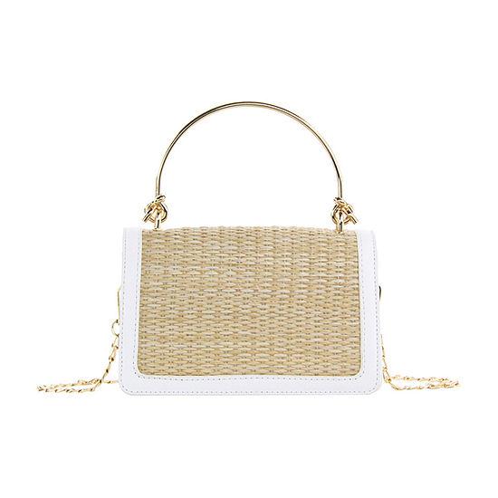 Olivia Miller Straw Crossbody Bag