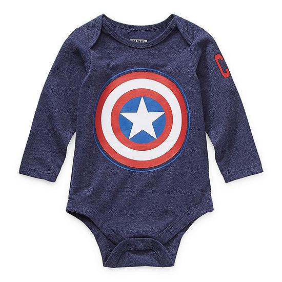 Okie Dokie Baby Boys Captain America Bodysuit