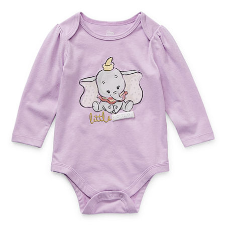 Okie Dokie Baby Girls Dumbo Bodysuit, 9 Months , Purple