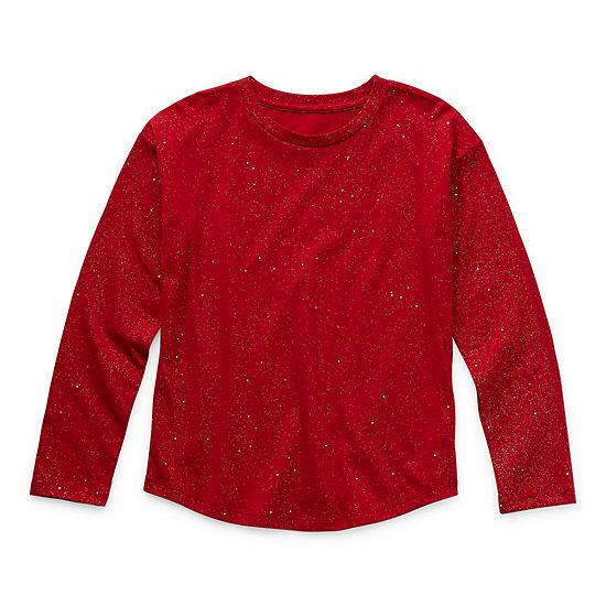 Arizona Sparkle Girls Round Neck Long Sleeve T-Shirt