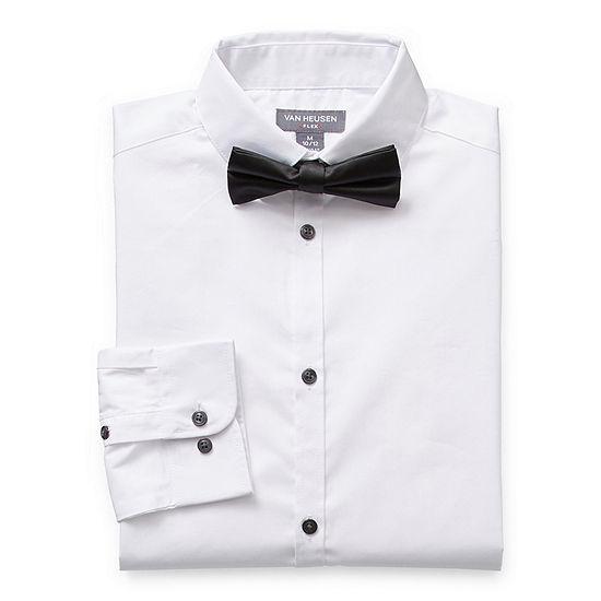 Van Heusen Little & Big Boys Button Down Collar Long Sleeve Shirt + Tie Set