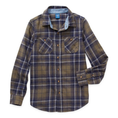 Arizona Little & Big Boys Long Sleeve Flannel Shirt