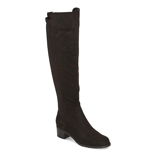 Liz Claiborne Womens Waldorf Riding Stacked Heel Boots