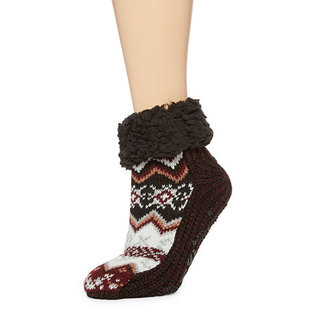 Muk Luks 1 Pair Womens Boot Socks, Small-medium , Black