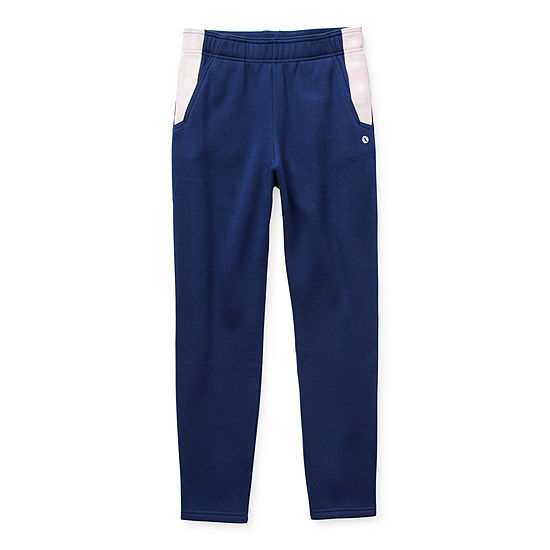 Xersion Cotton Fleece Little & Big Girls Tapered Jogger Pant