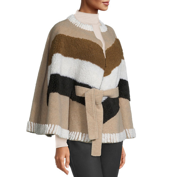 a.n.a Womens 3/4 Sleeve Belted Cape