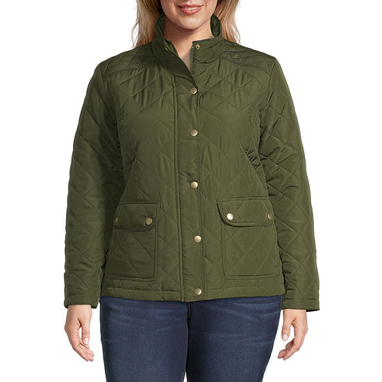 St. John's Bay Lightweight Quilted Jacket-Plus