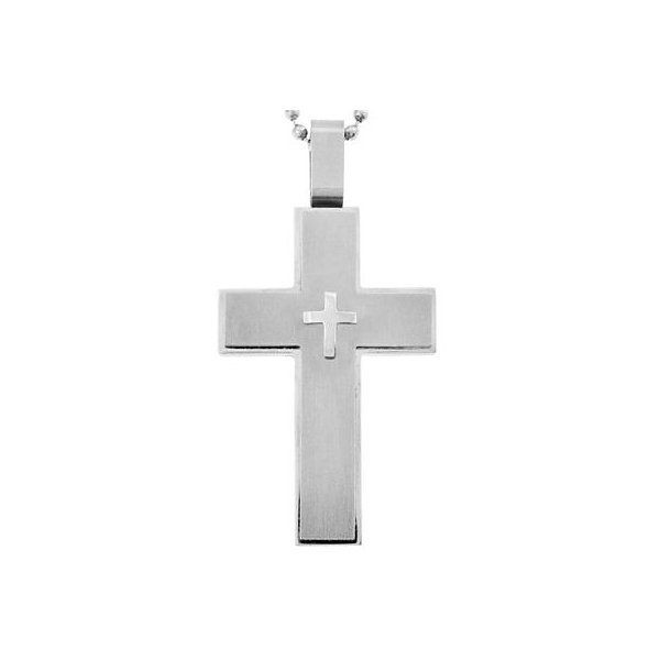 Large cross pendant necklace stainless steel mens large cross pendant necklace stainless steel mozeypictures Image collections