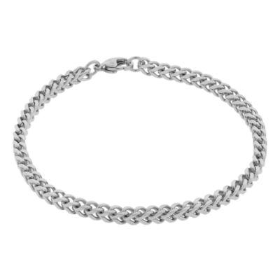 "Mens Brushed Stainless Steel 9"" 22mm Foxtail Bracelet"