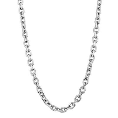 "Mens Stainless Steel 22"" 7mm Rolo Chain"