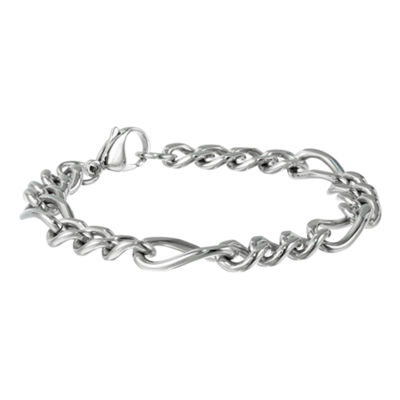 "Mens Stainless Steel 9"" 11mm Figaro Bracelet"