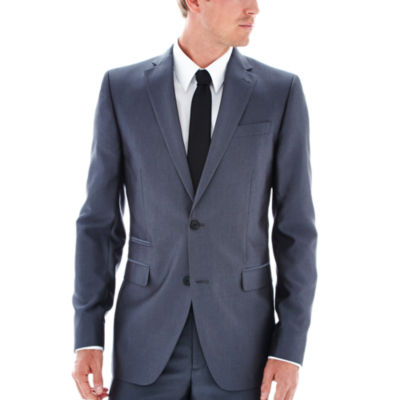 JF J. Ferrar® Luster Herringbone Suit Jacket - Slim-Fit