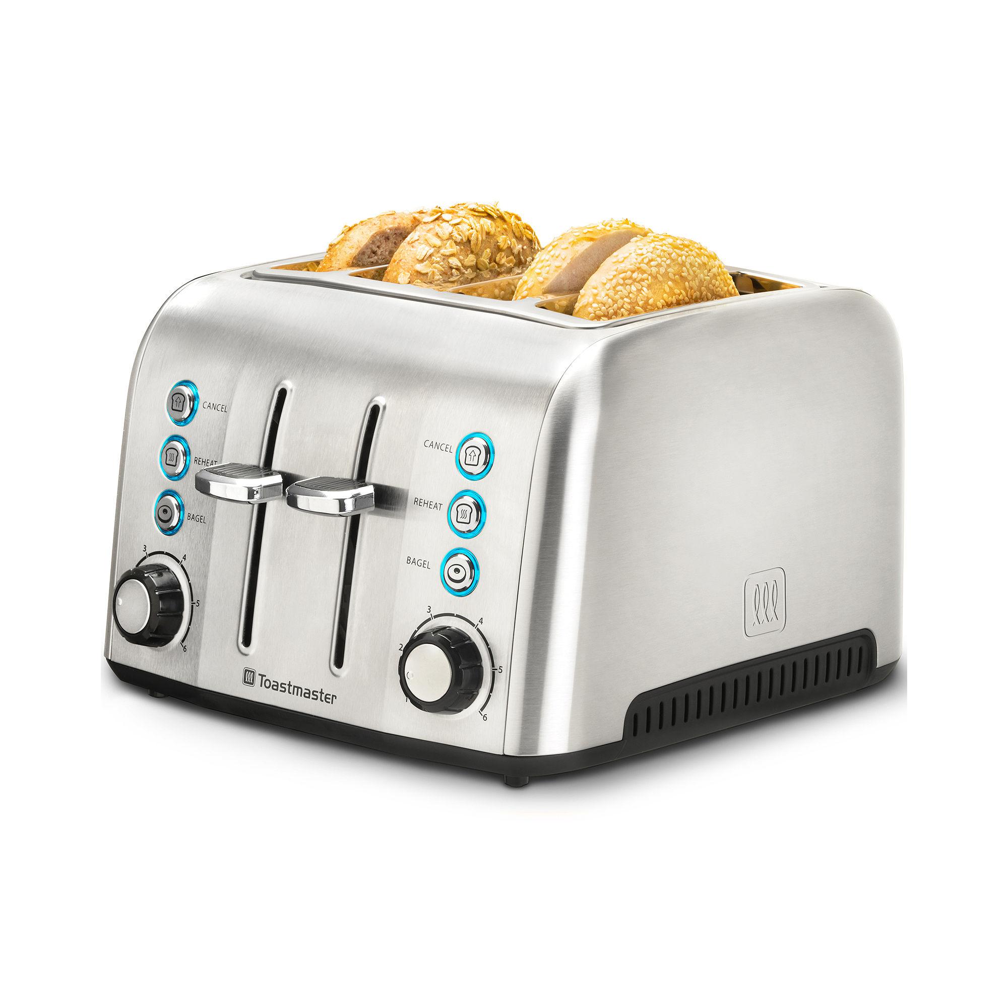 Toastmaster Stainless Steel 4-Slice Slot Toaster