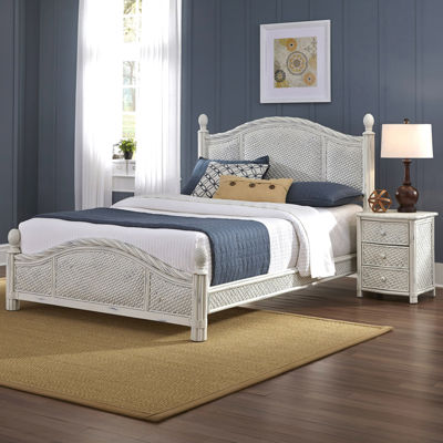 Lucia Wicker Bed or Headboard and Nightstand