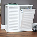 Household Essentials® Tilt-Out Laundry Shutter Sorter Cabinet