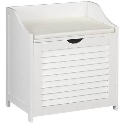 Household Essentials® Single-Load Hamper Cabinet with Seat